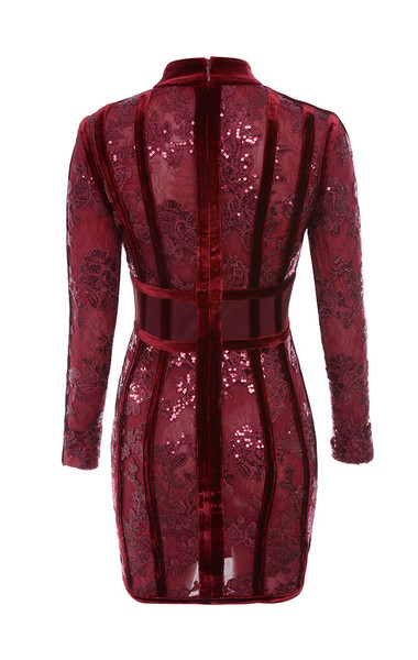 gigi dress in deep red