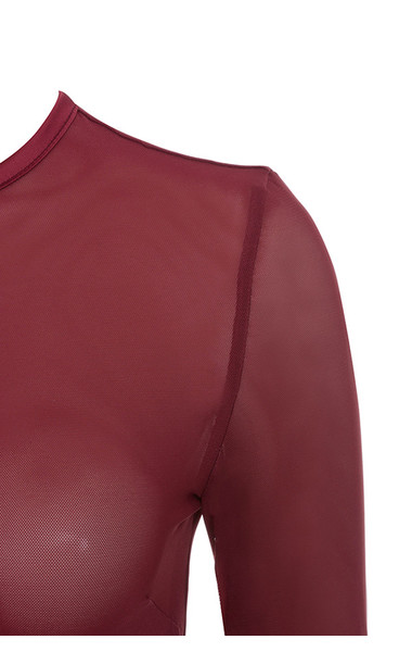 signe bodysuit in burgundy