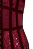 deep red gigi dress