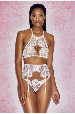Millicent White Lace Suspender