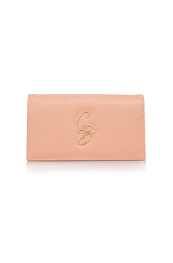 CB Peach Logo Clutch
