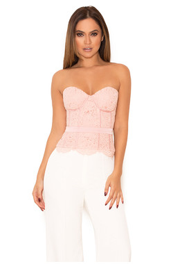 Eleazer Blush Lace Basque Corset