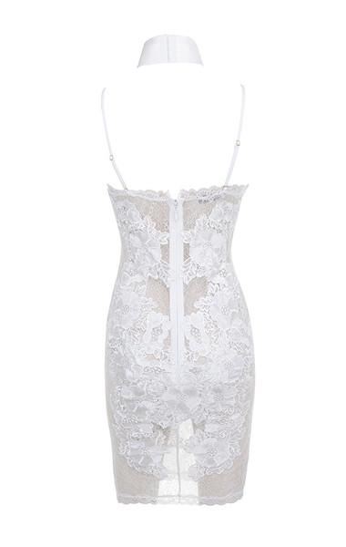 salana dress in white