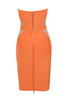 cascadia dress in orange