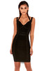 Darcy Black Deep V Bandage Dress