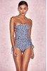 Fira Denim One Piece Swimsuit with Side Lace Up