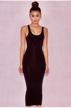 Tomlin Black Midi Length Vest Dress