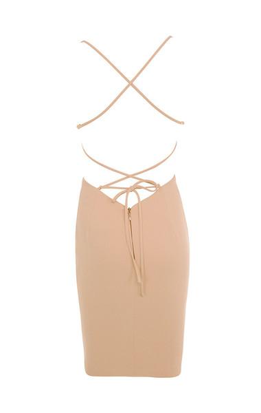 carenza dress in nude