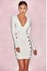 Darcia White Bandage Eyelet Dress