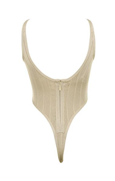 perle bodysuit in taupe