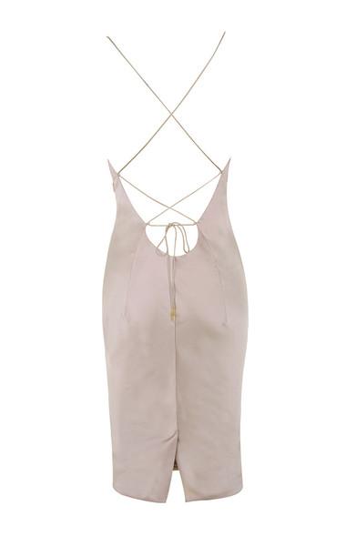 alette dress in silver