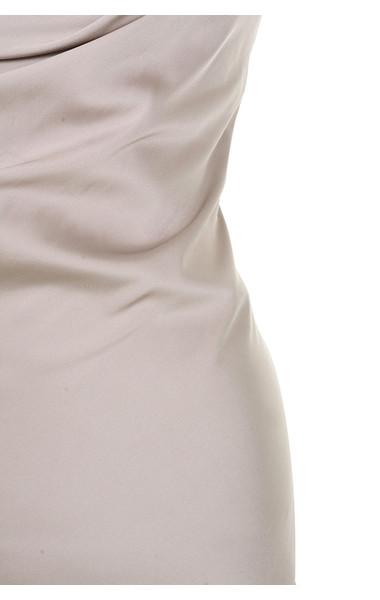silver alette dress