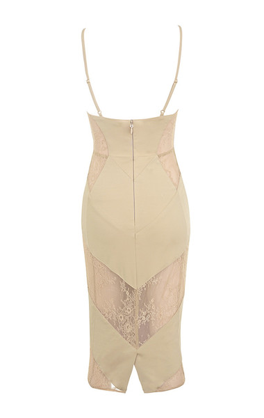 dahlia dress in nude