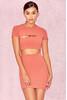 Violeta Salmon Cut Out Mini Dress