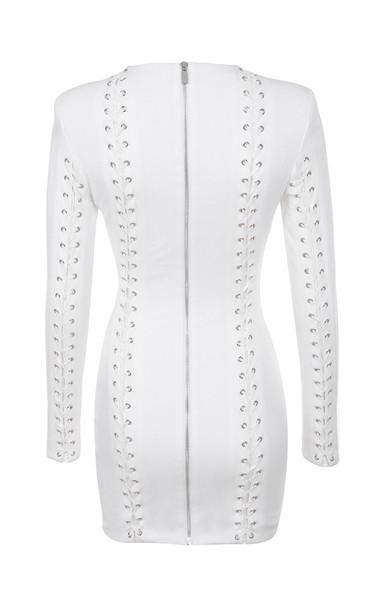 alessia dress in white