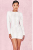 'Alessia' White Suedette Lace-Up Dress